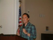 Todd Gloria spoke passionately to the Lake San Marcos Democratic Club in August, 2014.