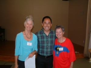 Mary Borevitz and Betty Ball with Todd Gloria after he addressed the Club at the August, 2014 meeting.