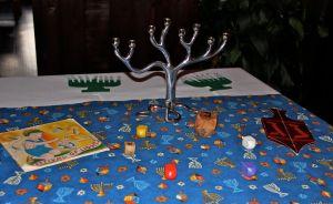 The Hanukah table