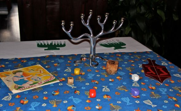 The Hanukah table