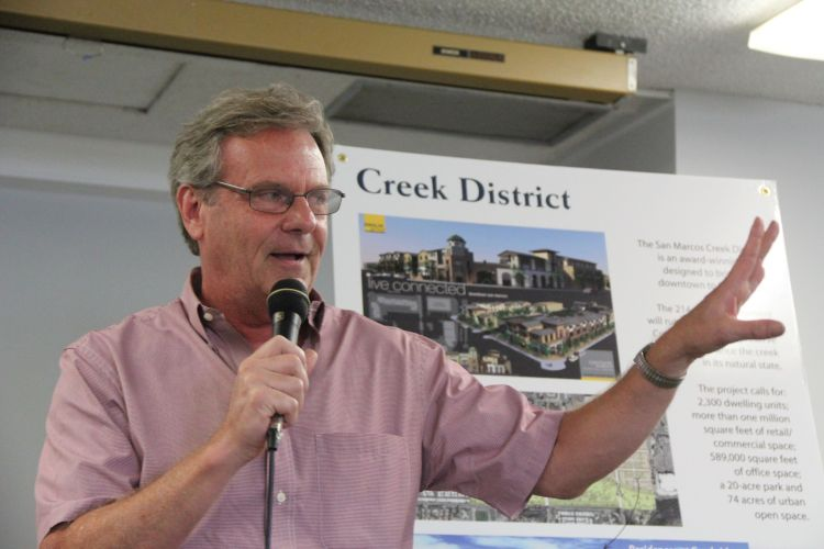 San Marcos Mayor Jim Desmond discusses Innovate 78 and the Creek District development