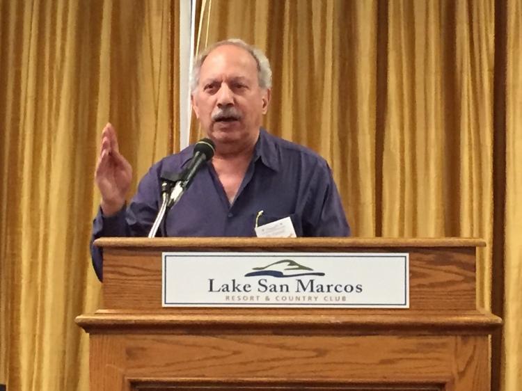 Dr. Farouk al-Nasser of the World Affairs Council of San Diego addressed the club Mar 2015.